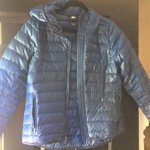 Nike blue like new lightweight puffer jacket